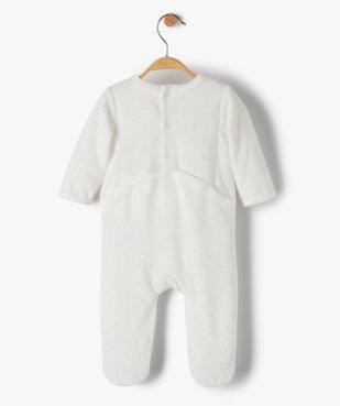 Pyjama dors-bien bébé fille en velours avec motif biches vue3 - GEMO(BB COUCHE) - GEMO