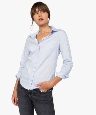 Chemise femme coupe cintrée en coton stretch vue1 - GEMO(FEMME PAP) - GEMO
