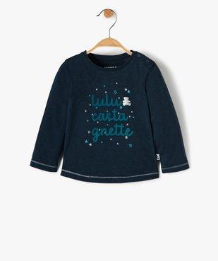 Tee-shirt bébé fille à motif pailleté – Lulu Castagnette vue1 - LULUCASTAGNETTE - GEMO