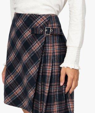 Jupe femme courte à carreaux style écossais vue2 - GEMO(FEMME PAP) - GEMO