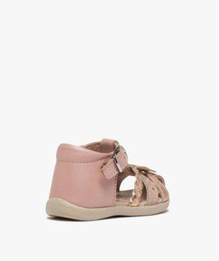 Sandales premiers pas bébé fille en cuir vue4 - Nikesneakers(BEBE DEBT) - Nikesneakers