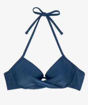 Haut de maillot de bain forme corbeille effet drapé vue4 - GEMO (PLAGE) - GEMO