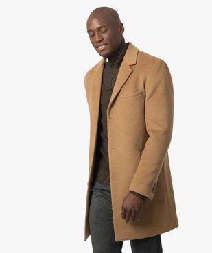 Manteau court homme effet drap de laine vue1 - GEMO (HOMME) - GEMO