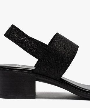 Sandales femme à talon carré et larges brides élastiquées vue6 - GEMO(URBAIN) - GEMO