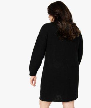 Robe femme en maille fantaisie et col V en dentelle vue3 - GEMO (G TAILLE) - GEMO