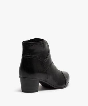 Boots femme à talon dessus cuir uni vue4 - GEMO(URBAIN) - GEMO