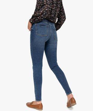Jean femme skinny délavé taille haute à boutonnière vue3 - GEMO(FEMME PAP) - GEMO