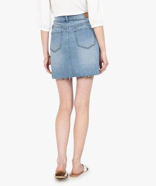 Jupe femme en jean avec marques d'usure vue3 - GEMO(FEMME PAP) - GEMO