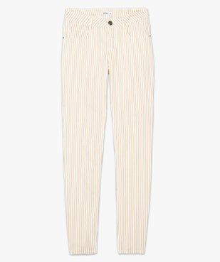 Pantalon femme coupe slim à rayures vue4 - GEMO(FEMME PAP) - GEMO