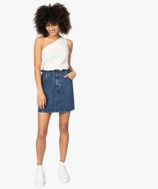 Jupe femme en jean avec taille froncée vue5 - GEMO(FEMME PAP) - GEMO