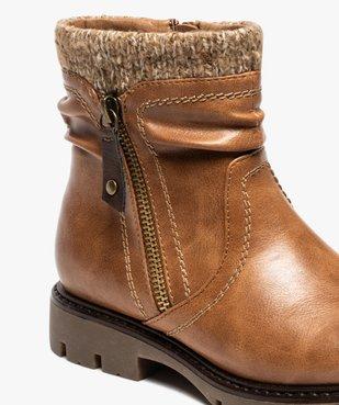 Boots fille à col en maille et semelle crantée vue6 - GEMO (ENFANT) - GEMO