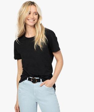 Tee-shirt femme à manches courtes avec dos plus long vue1 - GEMO(FEMME PAP) - GEMO