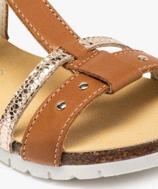 Sandales fille dessus cuir à semelle crantée - Bopy vue6 - BOPY - GEMO