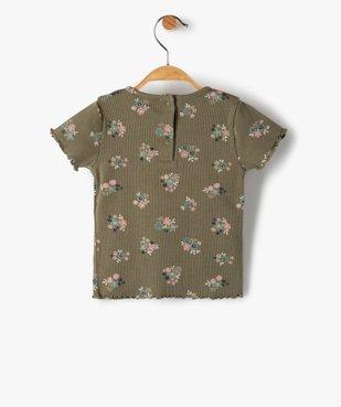 Tee-shirt bébé fille en maille côtelée  vue4 - GEMO C4G BEBE - GEMO