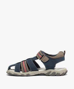 Sandales garçon à brides multiples et fermeture scratch vue3 - Nikesneakers (ENFANT) - Nikesneakers