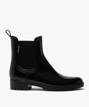 Boots de pluie femme style chelsea unis - Boatilus vue1 - BOATILUS - GEMO