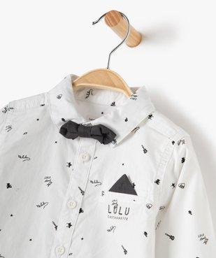 Chemise bébé garçon avec nœud papillon – Lulu Castagnette vue2 - LULUCASTAGNETTE - GEMO