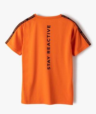 Tee-shirt garçon sport en maille légère à manches courtes  vue3 - GEMO (ENFANT) - GEMO