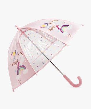 Parapluie fille transparent à motif licorne vue1 - GEMO (ACCESS) - GEMO