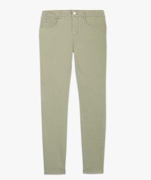 Pantalon femme coupe slim en toile extensible vue4 - GEMO(FEMME PAP) - GEMO