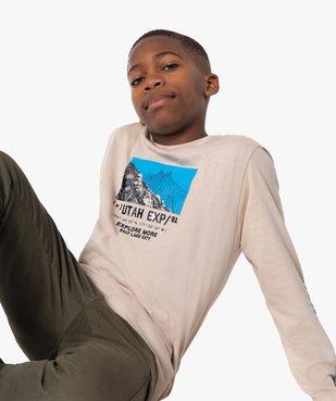 Tee-shirt garçon à manches longues imprimé vue1 - Nikesneakers (JUNIOR) - Nikesneakers