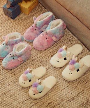 Chaussons fille boots en forme de licorne vue6 - GEMO (ENFANT) - GEMO