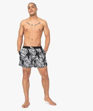 Short de bain homme motif feuillage en contraste vue1 - GEMO (PLAGE) - GEMO