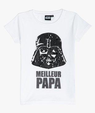 Tee-shirt fille motif brillant Dark Vador - Star Wars vue1 - STAR WARS - GEMO
