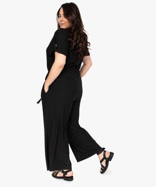 Combinaison pantalon femme ouverture zippée vue3 - GEMO (G TAILLE) - GEMO