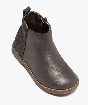 Boots fille à talon plat et reflets métallisés vue5 - GEMO (ENFANT) - GEMO
