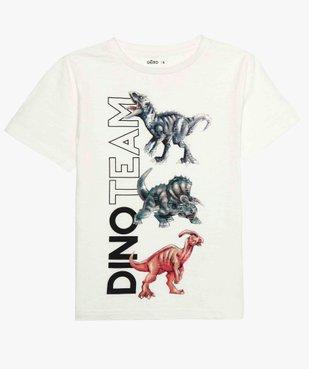 Tee-shirt garçon à manches courtes avec motifs dinosaures vue1 - GEMO (ENFANT) - GEMO