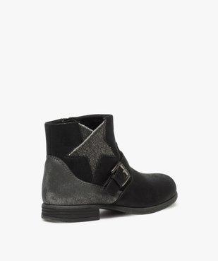 Boots fille zippés avec étoile pailletée sur le côté vue4 - Nikesneakers (ENFANT) - Nikesneakers