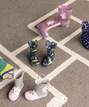 Bottes de pluie bébé fille à anses motif chouette en relief  vue6 - GEMO(BEBE DEBT) - GEMO