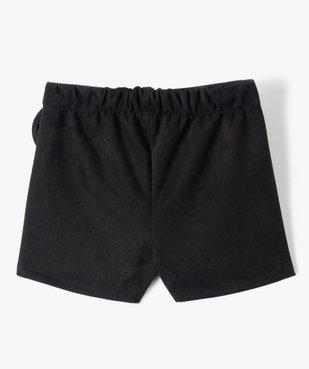Jupe-short fille en velours à taille élastiqué vue3 - GEMO (ENFANT) - GEMO