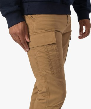 Pantalon homme cargo multipoche au coloris unique vue2 - Nikesneakers (HOMME) - Nikesneakers