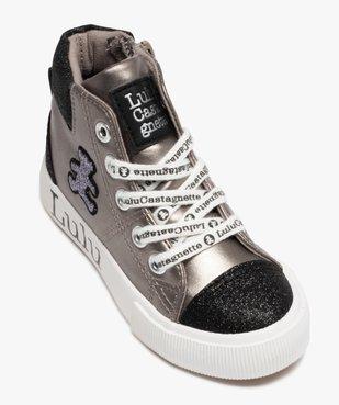 Baskets fille semi-montantes à paillettes – LuluCastagnette vue5 - LULU CASTAGNETT - Nikesneakers