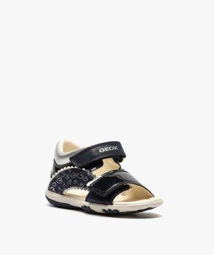 Sandales bébé fille à scratch détails vernis - Geox vue2 - GEOX - GEMO