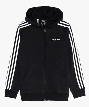 Sweat garçon zippé à capuche et 3 bandes - Adidas vue1 - ADIDAS - GEMO
