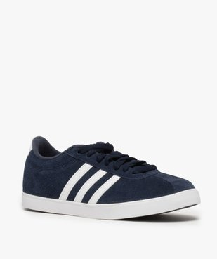 Tennis femme dessus cuir à lacets – Adidas Courtset vue2 - ADIDAS - Nikesneakers