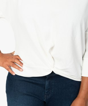 Blouse femme ample à col V et manches 3/4 vue2 - GEMO (G TAILLE) - GEMO