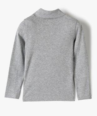 Tee-shirt garçon à manches longues et col montant vue3 - GEMO (ENFANT) - GEMO