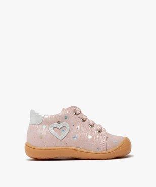 Chaussures premiers pas bébé fille en cuir vue1 - Nikesneakers(BEBE DEBT) - Nikesneakers
