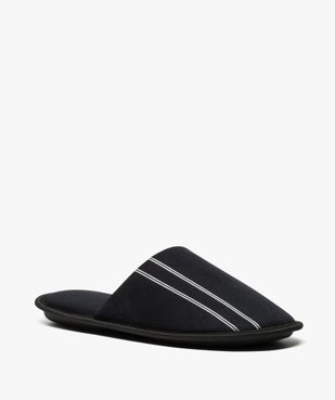 Chaussons homme forme mules velours avec liserés vue2 - Nikesneakers(HOMWR HOM) - Nikesneakers