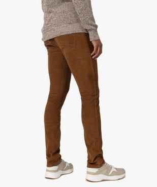 Pantalon homme en velours fines côtes extensible vue3 - GEMO (HOMME) - GEMO