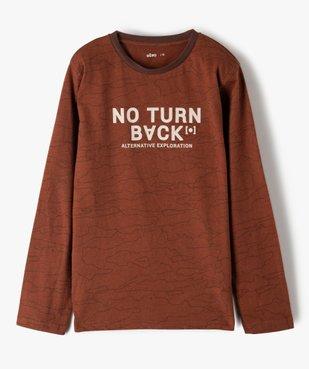 Tee-shirt garçon à manches longues imprimé vue1 - GEMO (JUNIOR) - GEMO