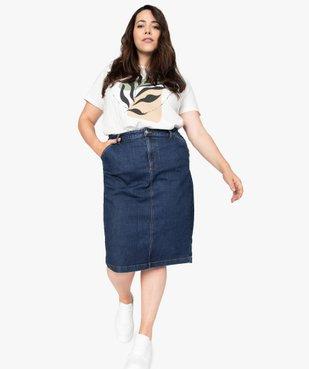Tee-shirt femme à manches courtes imprimé vue5 - GEMO (G TAILLE) - GEMO