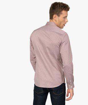 Chemise homme à motifs colorés coupe slim vue3 - GEMO (HOMME) - GEMO