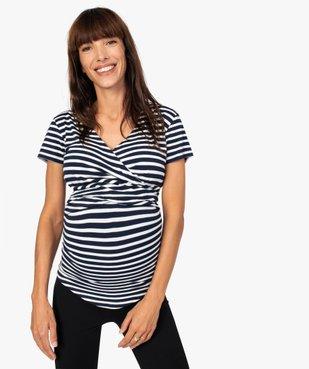 Tee-shirt de grossesse et allaitement cache-cœur vue1 - Nikesneakers (MATER) - Nikesneakers