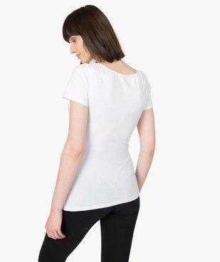 Tee-shirt de grossesse imprimé avec grand col rond vue3 - GEMO (MATER) - GEMO