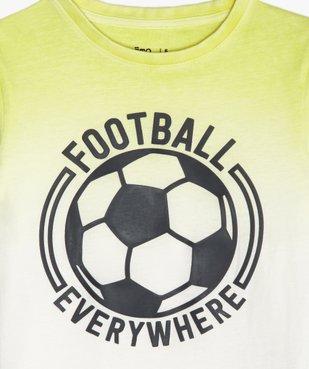 Tee-shirt garçon tie-and-dye avec patch football vue2 - GEMO (ENFANT) - GEMO